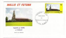 WALLIS Et FUTUNA / TAHITI / POLYNESIE FRANCAISE / EGLISE DE TEPA à WALLIS / Timbre De 30 F. En 1993 - FDC