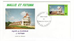 WALLIS Et FUTUNA / TAHITI / POLYNESIE FRANCAISE / EGLISE DE VILAMALIA à FUTUNA / Timbre De 30 F. En 1993 - FDC