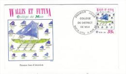 WALLIS Et FUTUNA / TAHITI / POLYNESIE FRANCAISE / COLLÈGE DU DISTRICT DE MUA / Timbre De 35 F. En 1995 - FDC