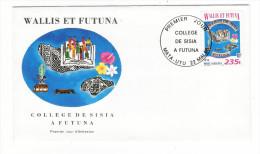 WALLIS Et FUTUNA / TAHITI / POLYNESIE FRANCAISE / COLLÈGE DE SISIA à FUTUNA / Timbre De 235 F. En 1996 - FDC