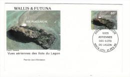 WALLIS Et FUTUNA / TAHITI / POLYNESIE FRANCAISE / VUES AERIENNES DES ÎLOTS DU LAGON / ÎLOT NUKULAELAE D´après L. CHARDON - FDC