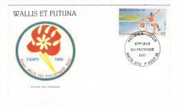 WALLIS Et FUTUNA / TAHITI / POLYNESIE FRANCAISE / 10ème JEUX DU PACIFIQUE SUD, TAHITI 1995 / LANCER DE JAVELOT - FDC