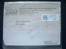 Brazil 2014 Cover To Nicaragua - Machine Franking - Map - Brazil