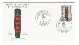 NOUVELLE-CALEDONIE ET DEPENDANCES / CHAMBRANLE DE GOA , Au MUSEE DE NOUMEA /  Timbre De 1 F. En 1973 - FDC