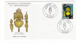 NOUVELLE-CALEDONIE ET DEPENDANCES / Flèches Faîtières , Au MUSEE DE NOUMEA /  Timbre De 16 F. En 1973 - FDC
