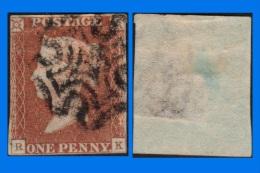 GB 1841-0120, QV 1d Pale Red-Brown Letters R-K SG9, MC Cancel (Spacefiller) - 1840-1901 (Victoria)