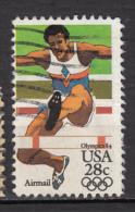 USA, Saut De Haie, Athlétisme, Jeux Olympiques De Los Angeles Olympic Games - Summer 1984: Los Angeles