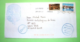 France 2011 Cover To Nicaragua - Angouleme Horses - Bridge - France