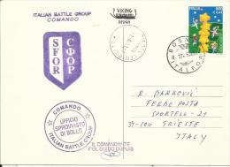 BH 2001- ITALFOR, BOSNA AND HERZEGOVINA, PC FROM BH-ITALFOR TO ITALY -TRIESTE - Militaria