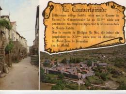 La Couvertoirade.. Belle Vue Aérienne Du Village.. La Rue Droite - Autres Communes