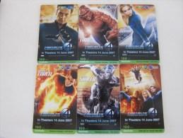 Prepaid Phonecard,Fantastic 4 ,set Of 6,used - Thailand