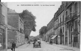 PONT ROUSSEAU Lès NANTES : La Rue Alsace-Lorraine - Belle CPA Utilisée Vers 1915 - Animée - Frankreich