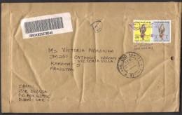 High Value Eagle Stamps On Postal Registered Cover From DUBAI UAE Arab Emirates With Customs Label 27.5.2012 - Verenigde Arabische Emiraten