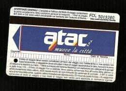 Biglietto Autobus e Metro Italia - Roma tipo 2 freccia blu