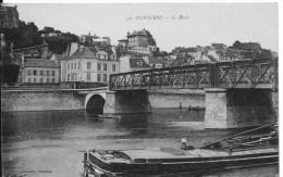 PONTOISE : Le Pont - CPA Postée En 1916 - Tampon Du Service Des Dommages Du Gouvernement Militaire - Pontoise