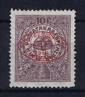 Romenia, Occupation Of Hungary, Debrecen Debreczin Mi. 6A MH/*  Signed/ Signé/signiert/ Approvato - 1918-1948 Ferdinand, Carol II & Michael