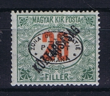 Romenia, Occupation Of Hungary, Debrecen Debreczin Mi. Porto Nr 14  MH/*  Signed/ Signé/signiert/ Approvato - 1918-1948 Ferdinand, Carol II & Michael