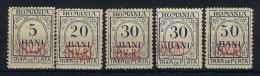 Romenia, German Occupation  MViR, Mi. Porto 1 - 5 MH/* - Bezetting