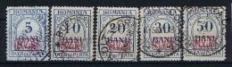 Romenia, German Occupation  MViR, Mi. Porto 1 - 5 Used - Bezetting