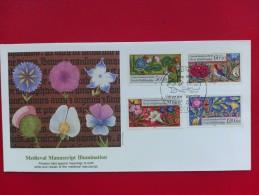 1985 Berlin Mi.Nr 744-747 - Welfare Fund - Medieval Manuscript Illustrations - 4 Values On 1 FDC (Flowers) - [5] Berlin