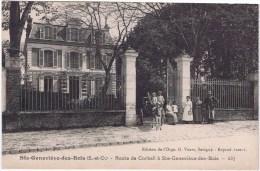 Cpa  SAINT GENEVIEVE DES BOIS  Route De Corbeil A Ste Genevieve Des Bois   Rare - Sainte Genevieve Des Bois