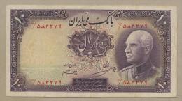 Iran - 10 Rials  1938  P33Aa  F-VF  !!!!!!!!!!!!!! ( Banknotes ) - Iran