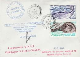 TAAF YVERT N°71-72  PORT AUX FRANCAIS 1979 CACHET CIE GLE MARITIME MARION DUFRENE      TDA13 - Terres Australes Et Antarctiques Françaises (TAAF)