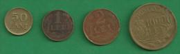 = ROMANIA - 50 BANI - 1 LEU - 2 LEI - 10 000 LEI  - 1947   # 161  = - Roumanie