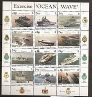 Océan Indien 1997 N° 195 / 206 ** Bateaux, Exercice Naval, Royal Navy, Porte-avion, Richmond, Beaver, Illustrious - Territoire Britannique De L'Océan Indien