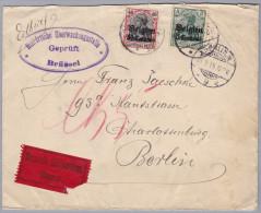 Belgien 1915-9-? Brüssel Zensur Eil Brief Nach Berlin Chrlottenburg - WW I