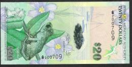 BERMUDA P60a  20  DOLLARS   2009  Signature 37  UNC. - Bermudas