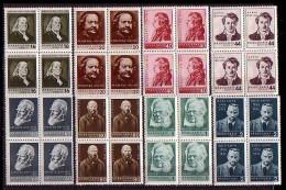 BULGARIA \ BULGARIE - 1956 - Celebrite De Franclin,Rembrand,Mozart,Heine,Bernard Show,Dostoevski,Ibsen,Curie - Bl De 4** - 1945-59 République Populaire