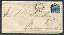 1863 Sweden Stockholm Barnangens Fabrikskontor Entire 12 Ore Vapen Coat Of Arms