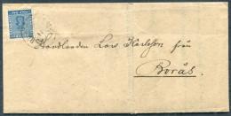 1871 Sweden Borgholm Entire 12 Ore Vapen Coat Of Arms