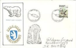 Faune Polaire (Ours Polaire,Guillemot De Brünnich,morse) Du Groenland. Belle Lettre Adressée Au Danemark - Ours