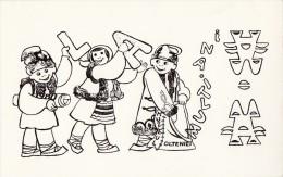 New Year La Multi Ani Muzeul Olteniei Fantasy Card 2scans  146 - Nieuwjaar