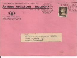 ARTURO ANSALONI, BOLOGNA, PIANTE, LISTINO PREZZI 1940, TIMBRO POSTE BOLOGNA TARGHETTA - F. Arbres & Arbustes