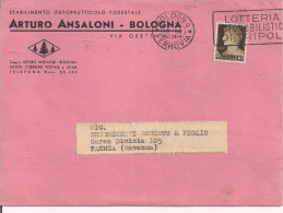 ARTURO ANSALONI, BOLOGNA, PIANTE, LISTINO PREZZI 1940, TIMBRO POSTE BOLOGNA TARGHETTA - F. Trees & Shrub