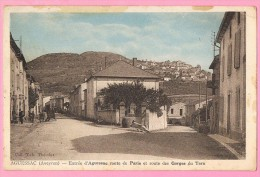 D12. AGUESSAC. ENTREE D'AGUESSAC ROUTE DE PARIS ET ROUTE DES GORGES DU TARN. - France