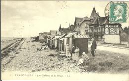 14 - VER-sur-MER - Les Cabines Et La Plage - France