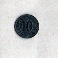 YUGOSLAVIA JUGOSLAVIJA  KINGDOM SHS  10 PARA 1920 ZINC COIN - Yougoslavie