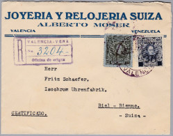 Venezuela R-Brief Valencia Nach Biel (Schmuck Und Schweizer Uhren) - Venezuela