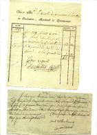 QUEVAUCAMPS POUR LE COMTE DE MOUSCRON A HOUTAIN  - 1897 - 2 DOCUMENTS - Manuscrits
