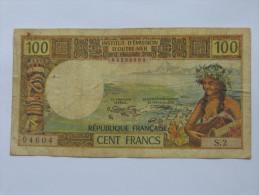 100 Francs Nouvelle Calédonie  NOUMEA - Institut D´émission D´outre Mer. REPUBLIQUE FRANCAISE **** EN ACHAT IMMEDIAT *** - Nouvelle-Calédonie 1873-1985