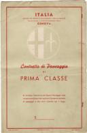 TRANSATLANTICO  CONTE BIANCAMANO /  Biglietto (Contratto di Passaggio ) di Prima Classe _ 1954