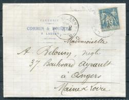 1890 France Tannerie Corbin & Boisnel Lassay Mayenne Tannery Entire Letter - Factories & Industries
