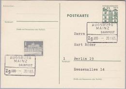 Heimat DE Bahnlinie AUGSBURG-MAINZ Zug#608 1965-11-28 - [7] Federal Republic