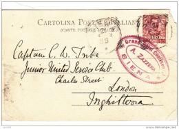 Floreale Annullo Tondo Riquadrato Siena Cartolina + Hotel Albergo Continentale + Floreale - 1900-44 Vittorio Emanuele III