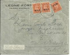 COLONIE OCCUPAZIONI STRANIERE MEF TRIPOLI 21 6 1948 M.E.F. 2 P LETTERA LETTER - British Occ. MEF