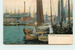 ALTONA  - Fischer-Ewer Am Fischmarkt. - Altona